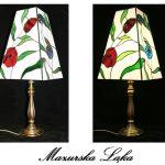 Lampa witrażowa - witraż Tiffany - Mazurska Łąka