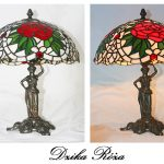 Lampa witrażowa - witraż Tiffany - Dzika Róża